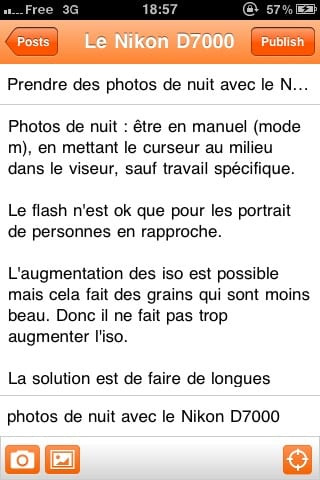 blogger sur iphone