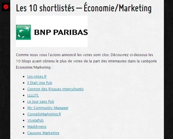 ConseilsMarketing.Fr dans la shorliste des Golden Blogs Awards 2012 1