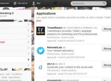 Applications liées à Twitter & interactions avec vos suiveurs – Walkcast Twitter [Partie 27] 4