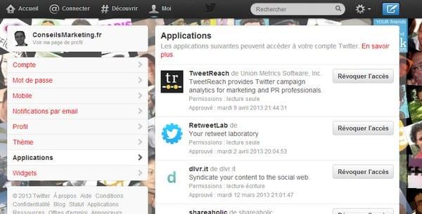 Applications liées à Twitter & interactions avec vos suiveurs – Walkcast Twitter [Partie 27] 3