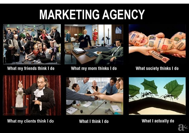ce que pense les gens quand je leur dit que je bosse dans le marketing