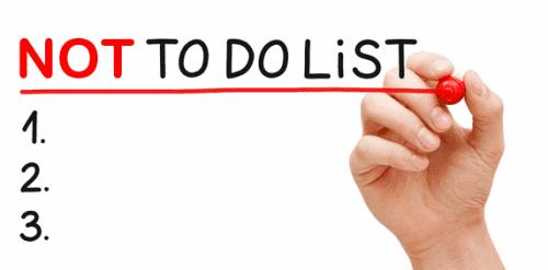 Bonnes Résolutions – Faire une Not To Do List ! 5