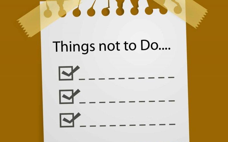 Bonnes Résolutions – Faire une Not To Do List ! 3