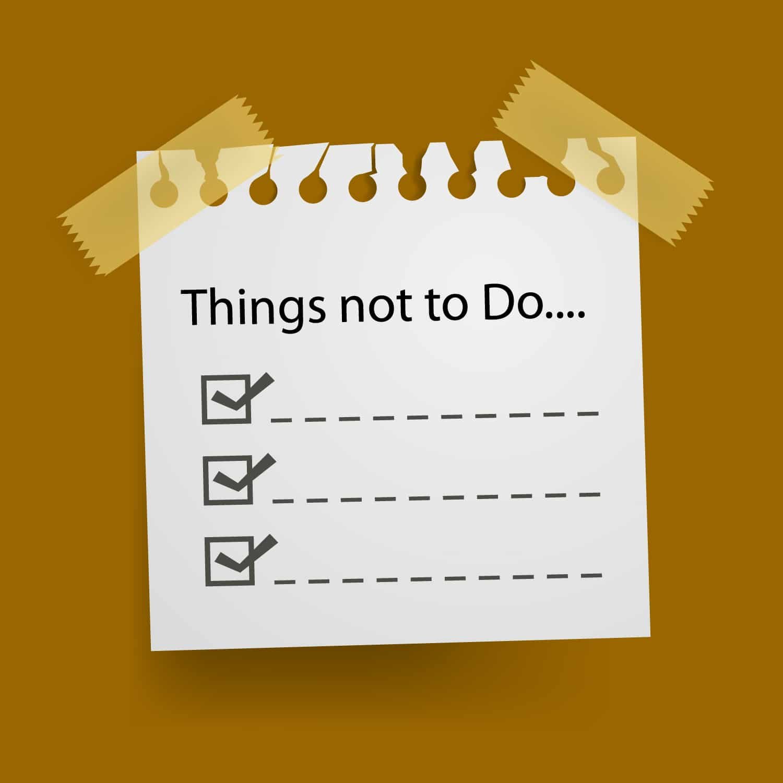 Bonnes Résolutions 2014 – Faire une Not To Do List !