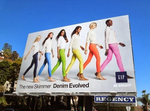 gap denim evolved skimmer billboard