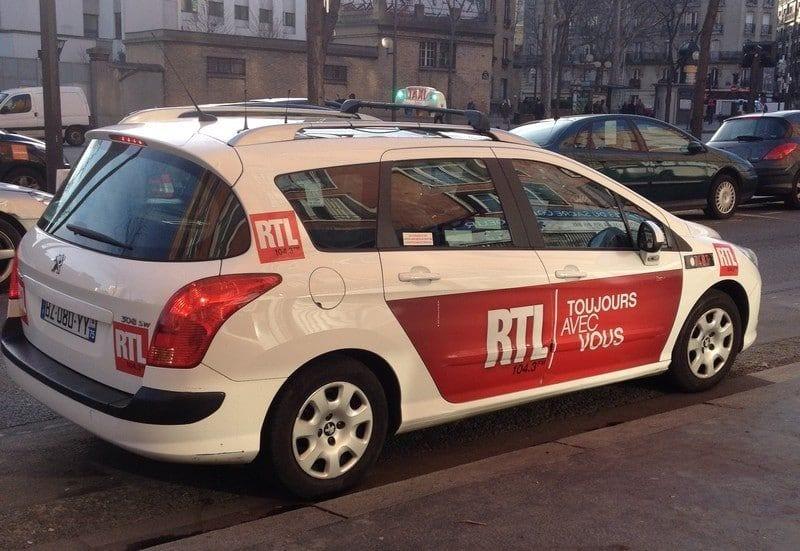 pub sur les taxis