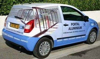 pub sur voiture personnelle