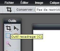 recadrage pixlr