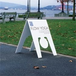 yoga outdoor sign