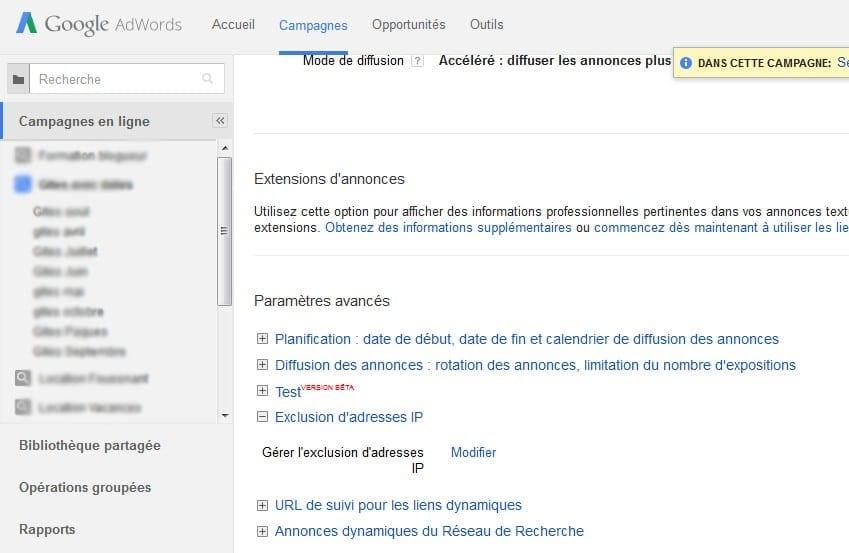 filtre adresse IP
