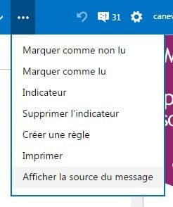 source message outlook