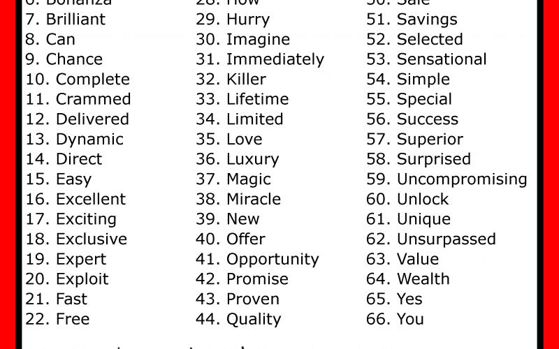 Les mots qui font vendre dans un mailing – Walkcast Mailing [8] 4