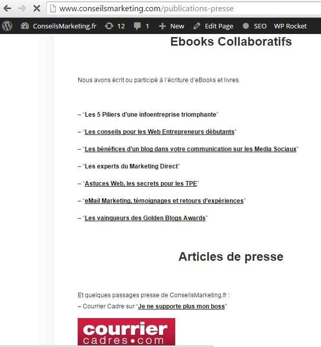 page publication