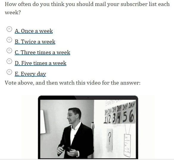 emailing avec questionnaire