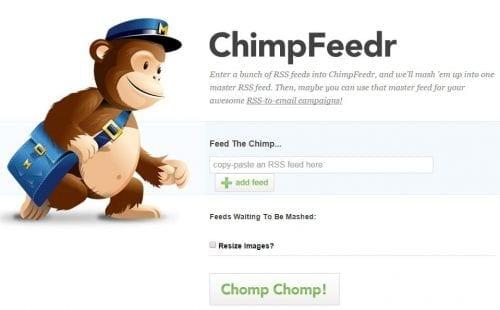 compilation flux RSS mailchimp