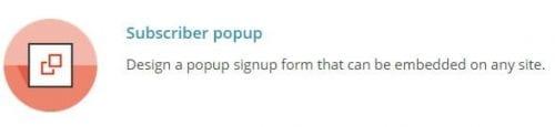 pop up mailchimp design
