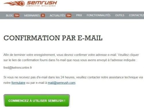 ouverture compte SEM Rush