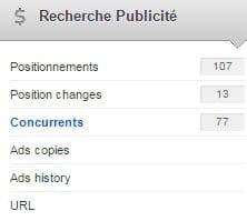 recherches publicités adwords