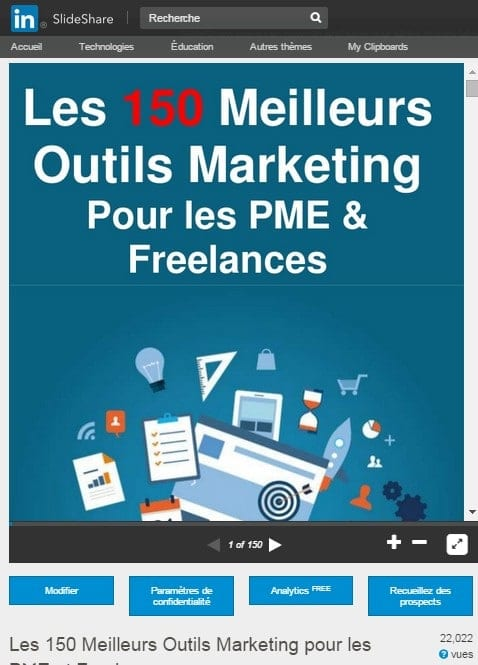 150 outils marketing