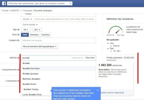 analyse via facebook ads
