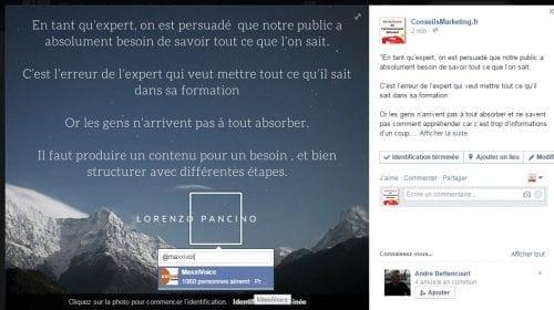identification publication facebook