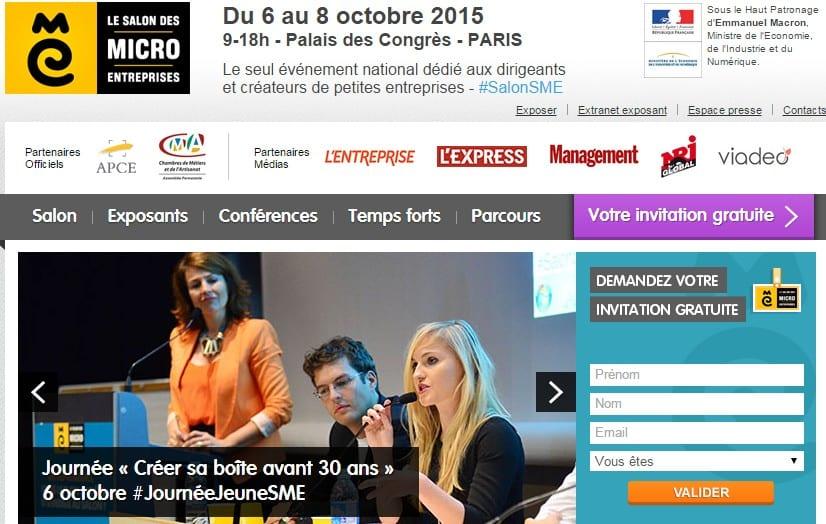 RDV du 6 au 8 Octobre au Salon des Micro Entreprises à Paris ! 1