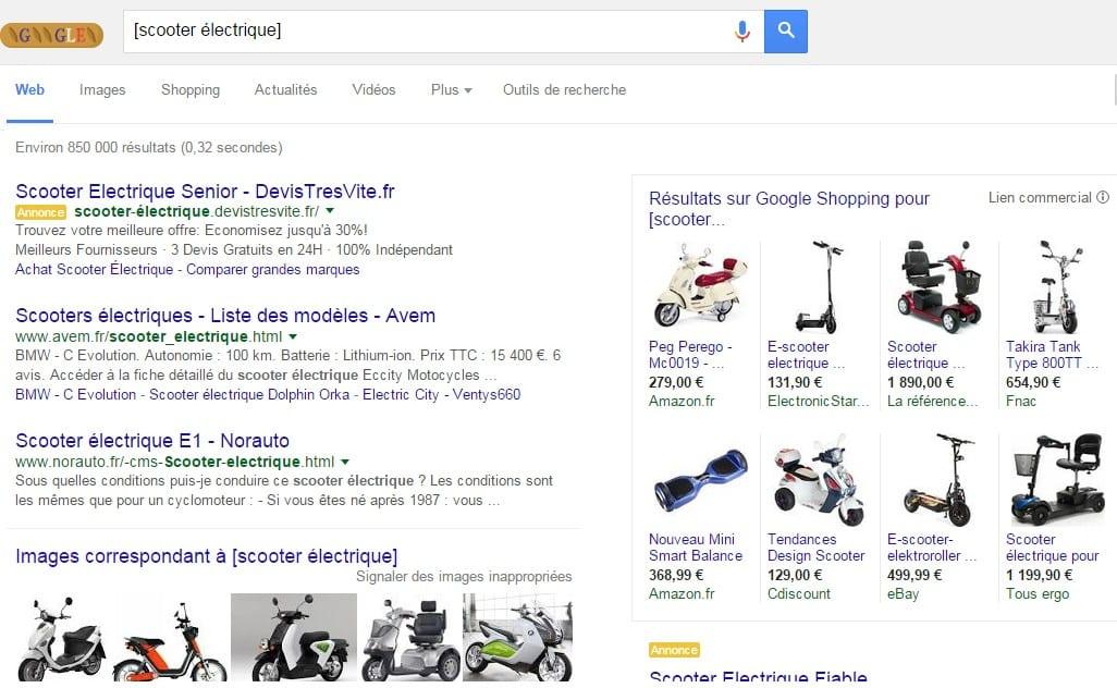 scooter electrique nombre de sites