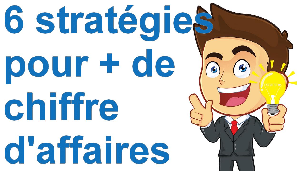 Marketing minute : 6 stratégies pour développer facilement son chiffre d'affaires 1