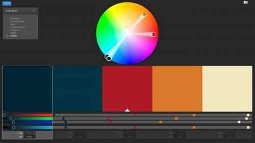 choix de couleurs pour un logo