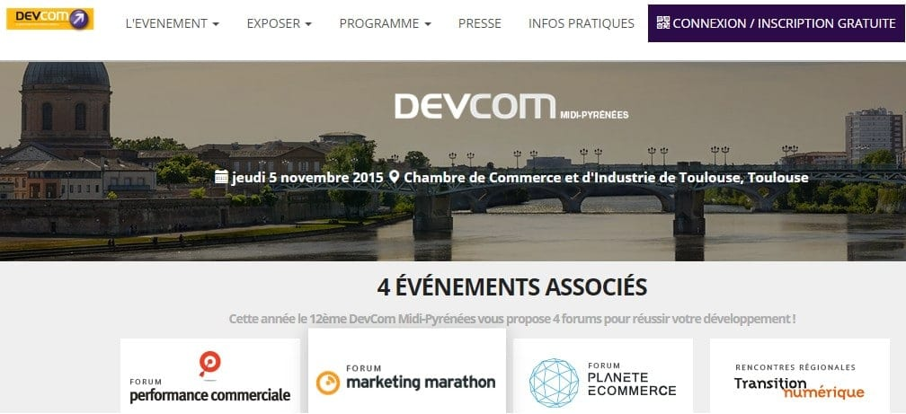 Assistez à une dizaine de conférences marketing gratuites au DevCom de Toulouse - 5 Novembre 2015 1
