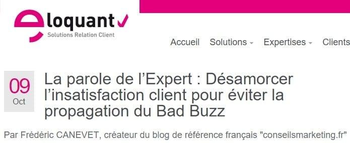 Il vaut mieux désamorcer l'insatisfaction client que de gérer un Bad Buzz ! 1