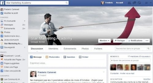 groupe facebook star marketing
