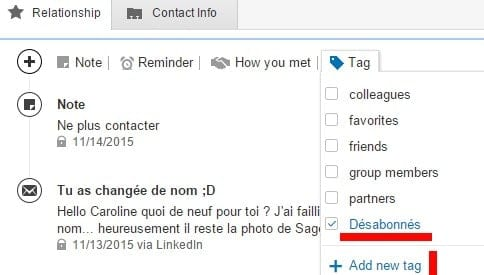 tag groupe