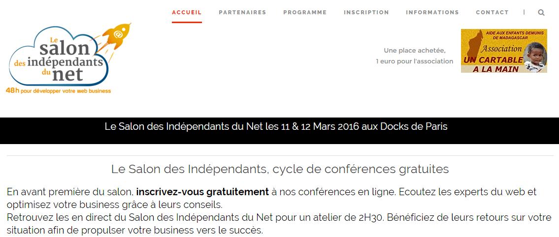 Participez au Salon des Indépendants du Net les 11 et 12 mars à Paris ! 1