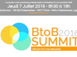 Le RDV annuel des Professionnels du Marketing B2B c'est le 7 Juillet lors du B2B Summit 2016 ! 3