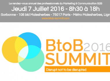 Le RDV annuel des Professionnels du Marketing B2B c'est le 7 Juillet lors du B2B Summit 2016 ! 5