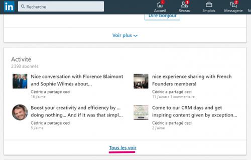 Comment connaitre le nombre exact de contacts d'un profil Linkedin ? 7