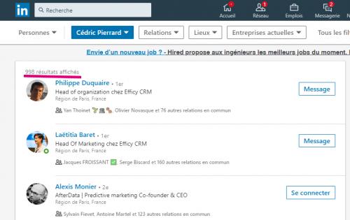 Comment connaitre le nombre exact de contacts d'un profil Linkedin ? 6