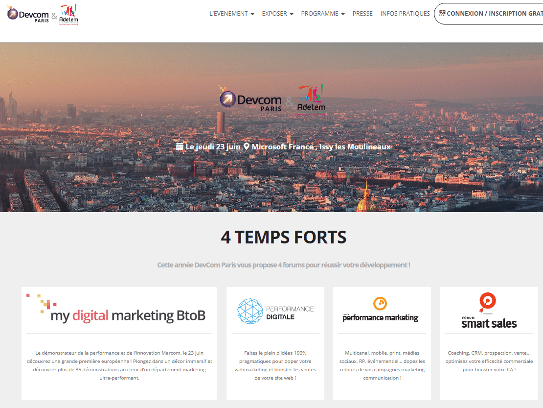 Demain c'est le DEVcom Paris : Assistez à plusieurs dizaines d'ateliers marketing & communication ! 1