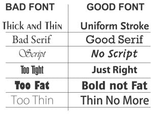 goodfontsbadfonts
