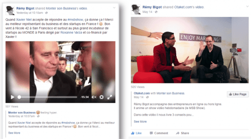 influenceurs facebook live