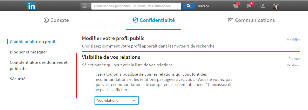 Comment connaitre le nombre exact de contacts d'un profil Linkedin ? 1