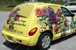 vehicle-wraps-graphics-vinyl-fleet-car-SUV-chrysler-pt-cruiser-bgc-rear