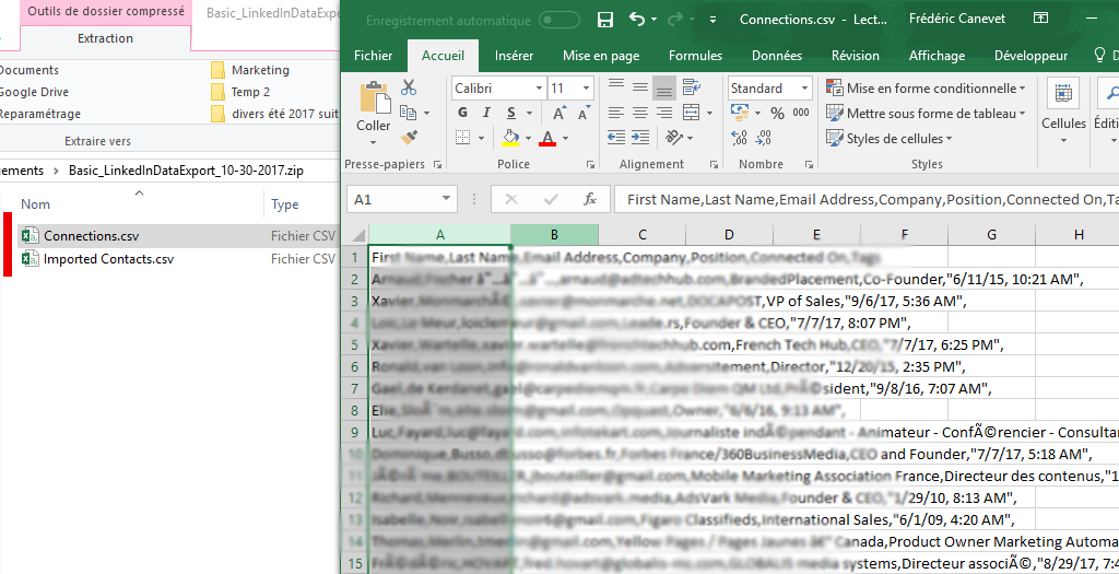 Tutoriel Mailchimp : Comment exporter ses contacts de Linkedin vers Mailchimp ! 8