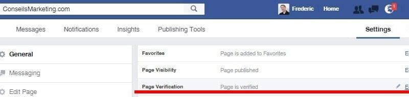 Comment mettre sa Page Facebook en statut vérifiée avec le Badge Vérifié ? 2