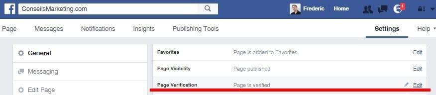Comment mettre sa Page Facebook en statut vérifiée avec le Badge Vérifié ? 1