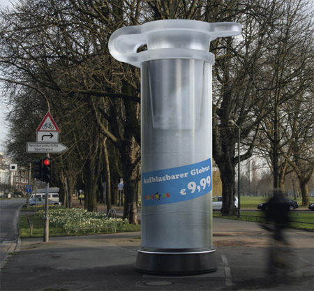 Plus de 100 pubs de Street Marketing créatives à prendre en exemple ! 114