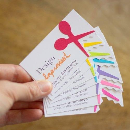 De belles idées de cartes de visites pour les couturières et les arts créatifs 15