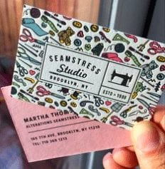 De belles idées de cartes de visites pour les couturières et les arts créatifs 6