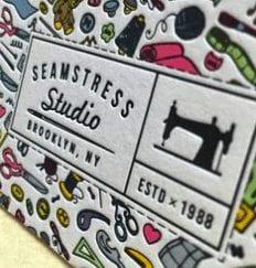 De belles idées de cartes de visites pour les couturières et les arts créatifs 4